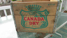 Vintage Canada Dry Wood Crate ~ 11-65