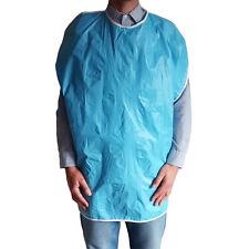 Large reusable special needs adult vinyl bib (blue)