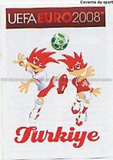 N°124 VIGNETTE PANINI MASCOTTE TURKEY EURO 2008 STICKER
