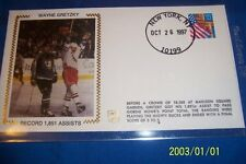 1997 NEW YORK Rangers WAYNE GRETZKY Sets Assists Record SILK Cachet GORDIE HOWE