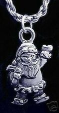 LOOK New Silver Santa Clause Pendant Charm Christmas Jewelry