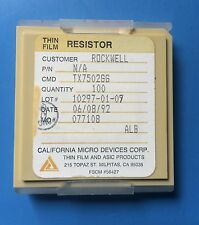 TX7502GG CALIFORNIA MICRO DEVICES RESISTOR THIN FILM ASIC 100/units total