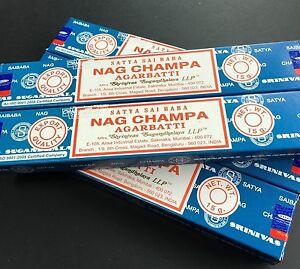 Nag Champa Incense Sticks  1 x Box of 12 (15 Grams sticks)