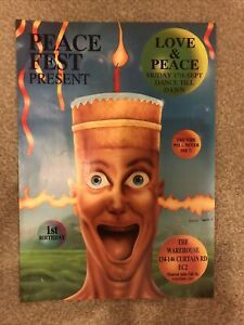 PEACE FEST present LOVE & PEACE 93 - A4 RAVE FLYER - 17/9/1993 - JUNIOR TOMLIN