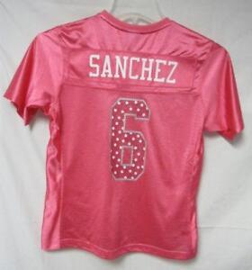 Mark Sanchez #6 Women's Size Small Pink Sweetheart Jersey A1 697