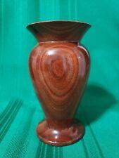 """Solid Mahogany Wood 6"""" Vase Turned Finished"""