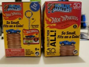 50TH WORLDS Smallest HOT WHEELS KEYCHAIN Cars BLIND Box Lot of 2 BOXES HTF