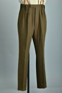 British Army Officers' Bespoke Tailored Guards Barathea SD Uniform Trousers. CDC