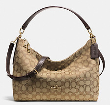 NEW COACH (F58284) KHAKI BROWN EAST WEST CELESTE CONVERTIBLE HOBO BAG HANDBAG