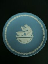 Wedgwood Blue Jasperware Mother 1973 Collector Plate, England
