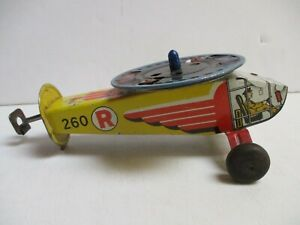 Hand-Held Tin Helicopter/Sparkler Toy @1940s