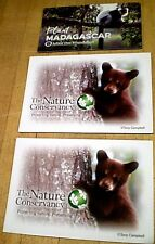 Magnets - (2)Bear-Nature Conservancy & (1) Madagascar Lemur-Arbor Day Foundation