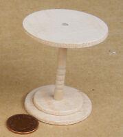1:12 Natural Finish Cafe Pub Table Dolls House Miniature Furniture Accessory RL