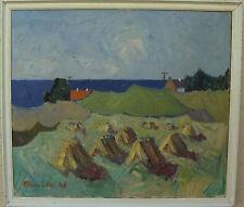 Arnold William Pedersen 1912-1986, Sommerlandschaft mit Heuhocken, um 1950