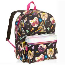 """Emojination Snapcat Backpack 16"""" School Book Bag Tote Full Size New With Tags"""