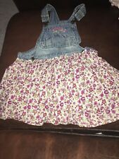 Stuff By Hillary Duff Girls Overalls Dress  Size 7  Pre Owned