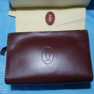 CARTIER logo Leather Bordeaux Bag must de Cartier