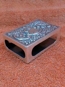 Antique Sterling Silver Hallmarked Matchbox Case 1890 Samuel Walton Smith 51.6g