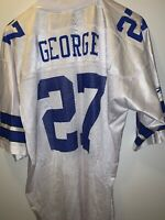 Beautiful Vivid Reebok Dallas Cowboys NFL George #27 Home White Jersey Size L