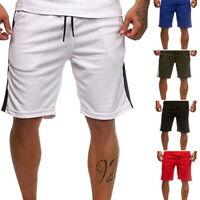 73d902755f Mens Fashion SHORTS TRACK STRIPE Training Gym Soft Summer Pants Drawstring  CA