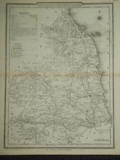 Original Antiquarian County Map of Northumberland c1850 - Dugdale, England