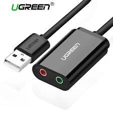 UGREEN Scheda Audio USB Esterna con Jack 3.5mm per Cuffie Microfono Altoparlante