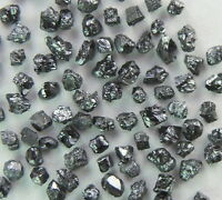 Natural Loose Diamonds Rough Black Color I3 Clarity 1.2 to 1.5MM 2.0Ct Lot P14-2