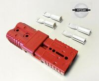 PAIR ANDERSON 175AMP 600V Plug CABLE TERMINAL BATTERY POWER CONNECTOR-RED
