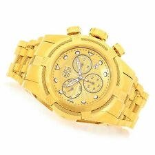 Invicta 52mm Bolt Zeus Swiss Z60 Chronograph Gold Plated Stainless Steel Watch
