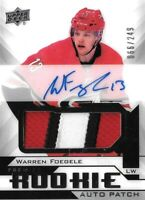 2018-19-U.D.PREMIER  ROOKIE- WARREN FOEGELE  R.C. AUTO PATCH  SP #/249  CAROLINA