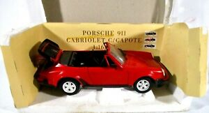 Polistil  1:16 Red Porsche 911 Cabriolet C / Capote 01679
