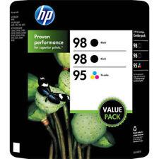 HP 98 Black 95 Tri-color 3 Cartridge Value Pack New Genuine Sealed Box