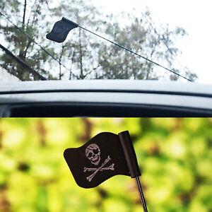 Car Antenna Topper Pirate Flag Skull & Crossbones Jolly Roger Aerial Decoration