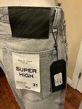 "Rag & Bone ""Ruth"" Gray Denim High Rise Wide Leg Ankle Jeans, Size 31, NWT!"