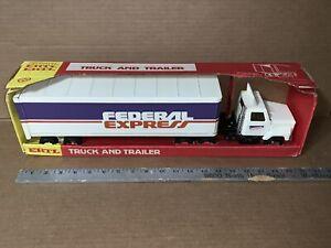 Vintage ERTL Steel Federal Express 18-Wheeler Semi In Box
