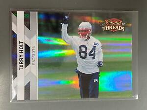 Torry Holt 2010 Panini Threads Silver New England Patriots Rams 237/250 N21
