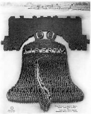 New 11x14 Photo: Human Liberty Bell of 25,000 Soldiers at Camp Dix, New Jersey