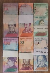 Venezuela Set Soberanos 2018 600 Banknotes Pieces Rare UNC J16L24
