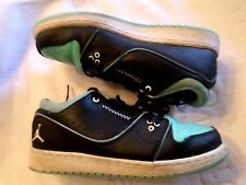 Nike Air Jordan 23  2014- Sz. 7YW Teal & Black 1 Flight 2 Low Sneakers 6544949