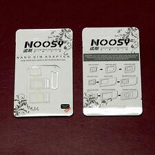 Lot of 5 NOOSY Nano Micro Standard SIM Card Adapter
