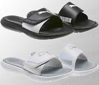 Ladies PUMA Slippers Flip Flops Sliders Sandals Surfcat Black White 3 4 5 6 7 8