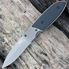 Couteau CRKT Fulcrum 2 Compact Lame Acier 8Cr13MoV Manche Acier/GRN CR7430