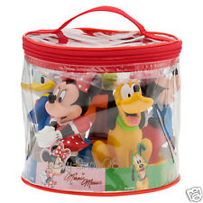 MICKEY MOUSE & FRIENDS SQUEEZE BATH  POOL TOYS  W/ CARRYING SET Disney Park New