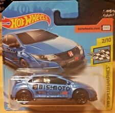 Hot Wheels 2018 Speed Graphics #126 2015 15 Honda Civic Type R BLUE BISIMOTO NEW