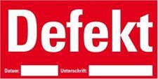 Etikett Defekt beschriftbar rot Haftpapier ablösbar 148x74mm 500/Rolle