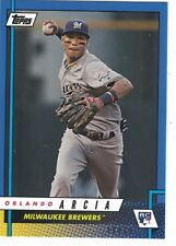 2017 Topps Rookie Class Blue Parallel #12B Orlando Arcia Milwaukee Brewers 19/49