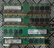 Pack of 4 off DIMMS various sizes, 3GB Total, 512Mb PC2-5300 DDR2 667MHz Non-ECC