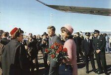 President John F Kennedy, First Lady Jacqueline, Airport Dallas Texas - Postcard