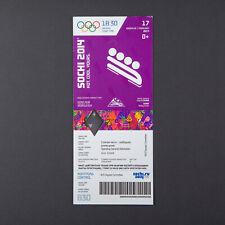 "Sochi Olympics Ticket Bobsleigh 17 FEB 2014 Two-man runs 3 and 4 Cat ""B"" RARE"