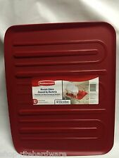 NEW RUBBERMAID LARGE RED SLOPED MICROBAN DISH DRAINER TRAY MAT DRAIN BOARD